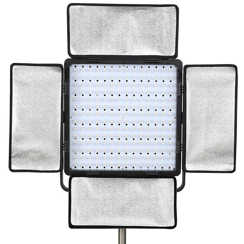 power led fl chenleuchte studioleuchte fotoleuchte vl 8196r 9000 lm 8mm leds ebay. Black Bedroom Furniture Sets. Home Design Ideas