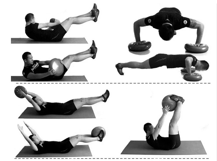 FUNTREND24 Yoga Pilates Balance-Luft-Kissen Fitness Wellness ...