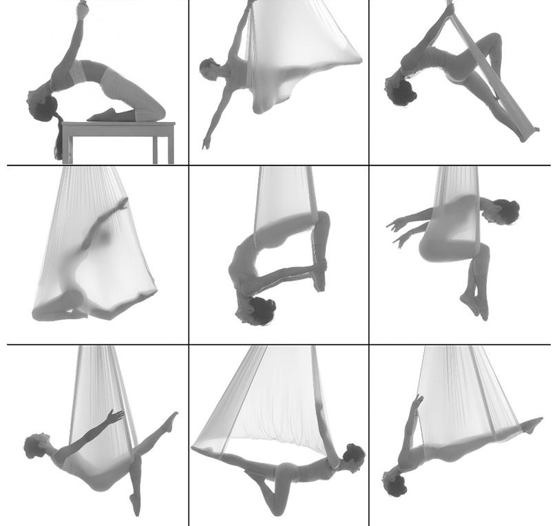 FUNTREND24 Yoga Swing Schaukel KIANA Tuch für Aerial Fitness Übungen ...